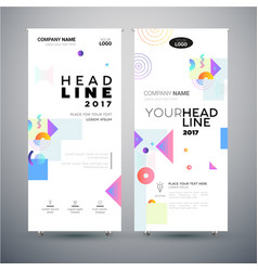 corporate banner - set of modern template vector image