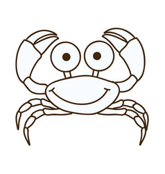 figure happy crab cartoon icon vector image vector image