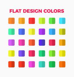 flat design colors set vector image