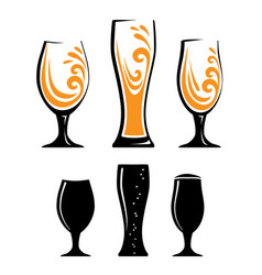 glass of orange juice and black silhouettes vector image