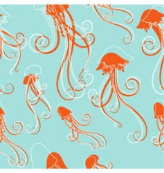 jellyfish pattern vector image vector image