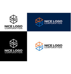 logo engineering and construction vector image vector image