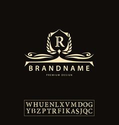 luxury vintage logo business sign label letter vector image