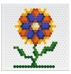 Mosaic Flower vector image vector image