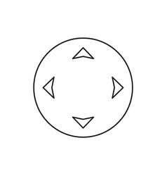 Movement button icon vector