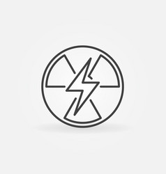 Nuclear power outline icon vector