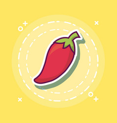 red chili icon image vector image