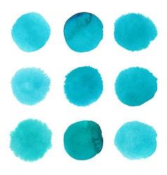 Set of watercolor dots vector