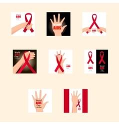 Set world aids day 1st december vector