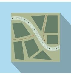 Stylized map flat vector