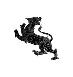 thai traditional tattoo vector image vector image