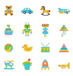Toys flat icon vector