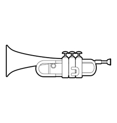 Trumpet icon outline style vector image vector image