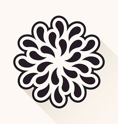 vintage flower Silhouette plants drops black vector image