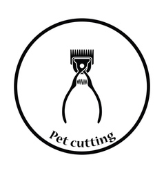 Pet cutting machine icon vector