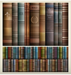 Book stack background vector