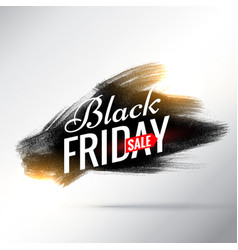 Black friday sale poster design with black ink vector