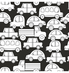 Seamless background of cars vector