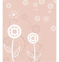 abstract background design with flowers vector image