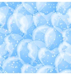 Balloon seamless background white and blue vector image