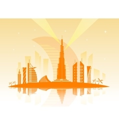 the city of Dubai vector image