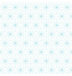 japanese asanoha pattern background vector image
