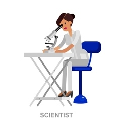 Young scientist character in moment vector