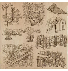 Architecture - an hand drawn pack collection vector