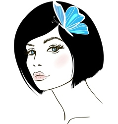 beauty woman portrait design element vector image