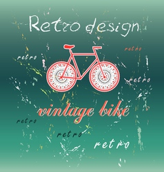 Bicycle on a green background vector image vector image