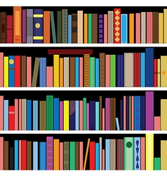 Books seamless texture vertically and horiz vector image vector image
