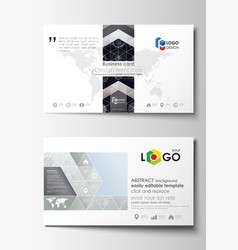 Business card templates easy editable layouts vector
