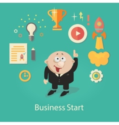 Business Startup infographics with vector image