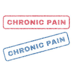 Chronic pain textile stamps vector