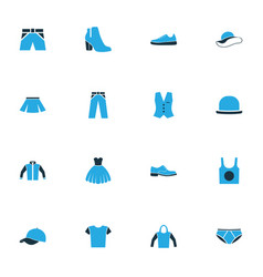 Clothes colorful icons set collection of trousers vector
