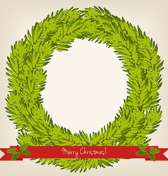 cute Christmas wreath vector image vector image