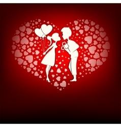 Design a set of hearts boy and girl vector