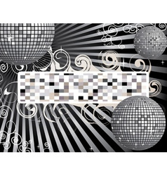 Disco back vector image vector image