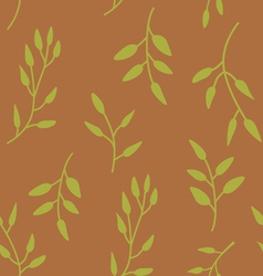 Elegant seamless pattern with green leaves vector image vector image