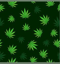 falling cannabis seamless vector image vector image
