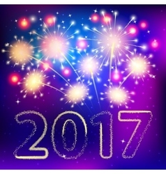 Fireworks for happy new year 2017 vector image vector image