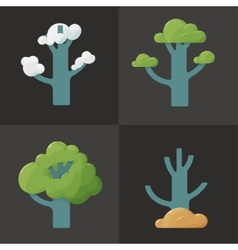 Flat icon of a tree in different seasons vector