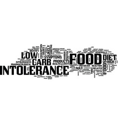 Food intolerance and low carb diets text vector