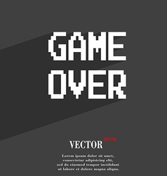 Game over concept symbol Flat modern web design vector image