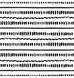 hand drawn black and white seamless pattern vector image vector image