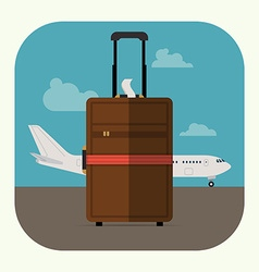Hand Luggage vector image vector image
