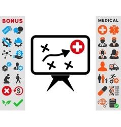 Health strategy icon vector