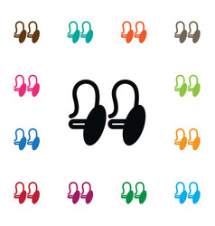 Isolated shackle icon eardrop element can vector