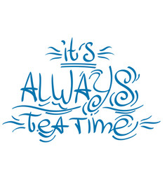 Lettering phrase from the fairy tale alices vector