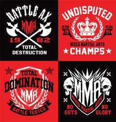 Mma sport emblem graphics vector